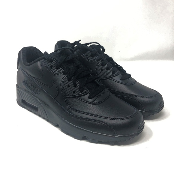 huge discount 07b2c 1f3a1 NIKE AIR MAX 90 LEATHER BLACK SIZE 8.5